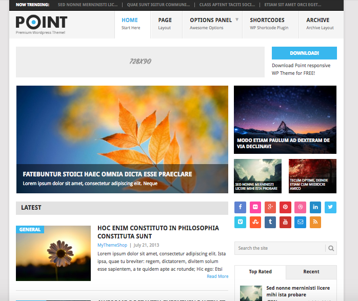 Point - free theme wordpress