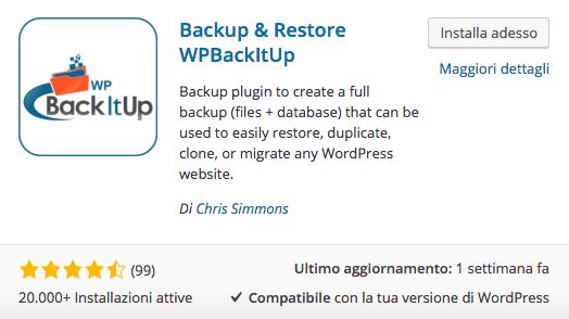 backup backitup