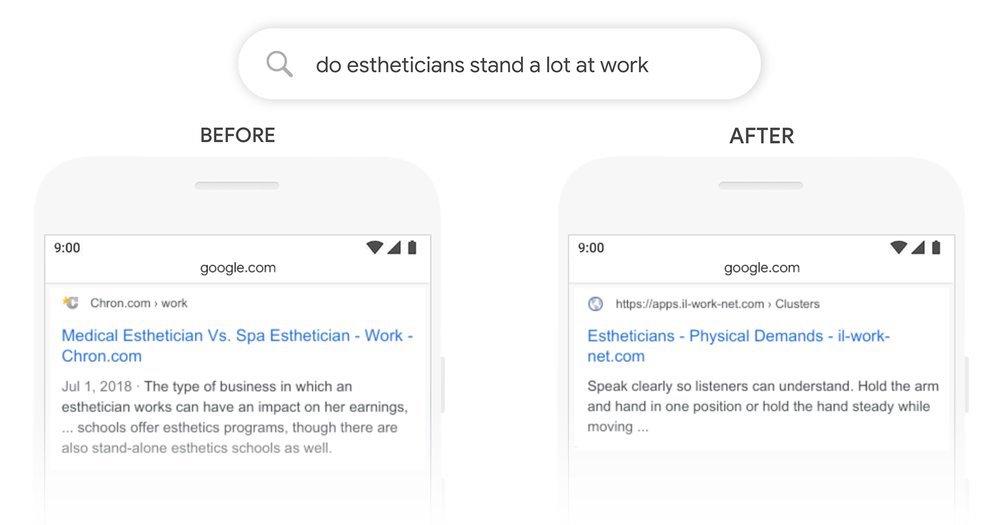 Google BERT - esempio
